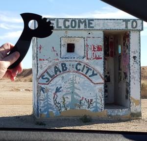 Defender 1 traveling in Slab City CA