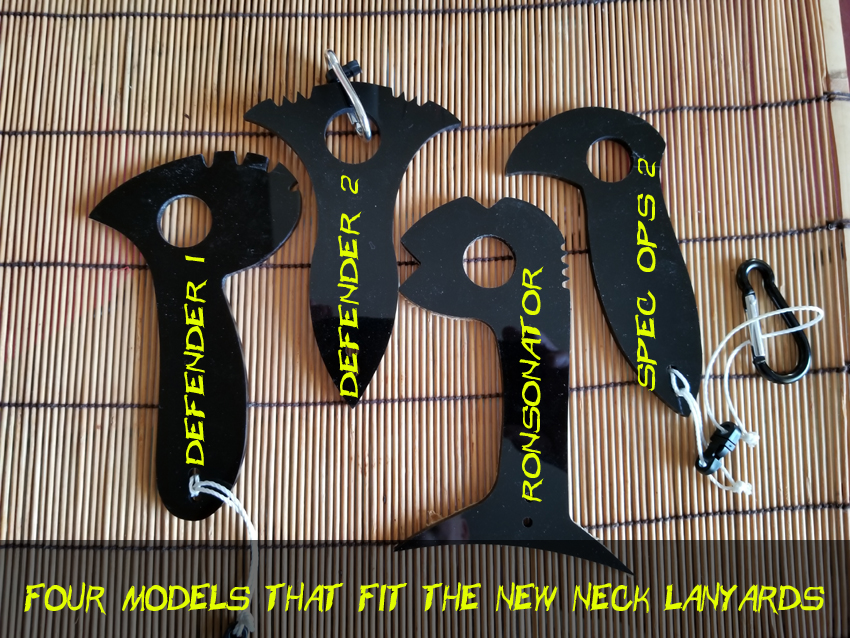 Four models that fit the new neck lanyards with names copy