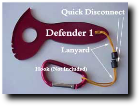 self defense weapon lanyard in gold cord